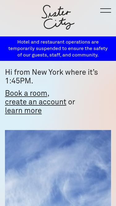 Sister City New York mobile website