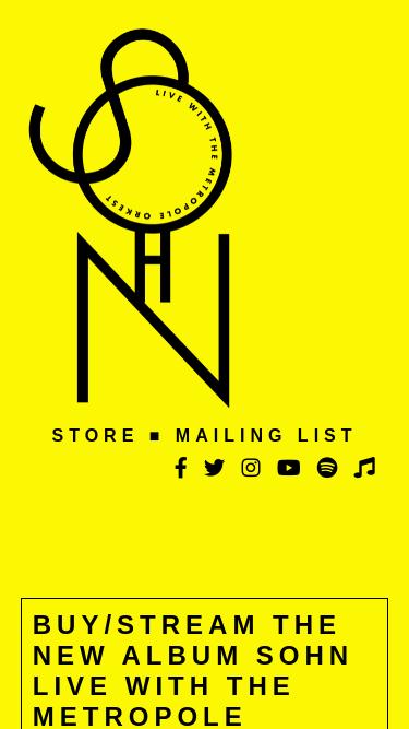 SOHN mobile website