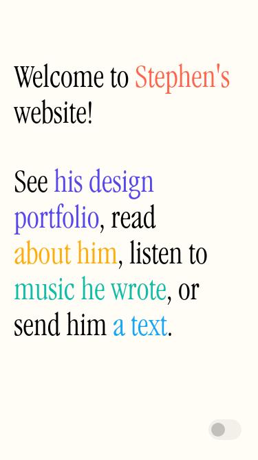 Stephen Barkan mobile website