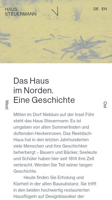 Haus Steuermann mobile website