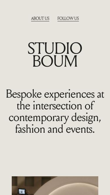 BOUM mobile website