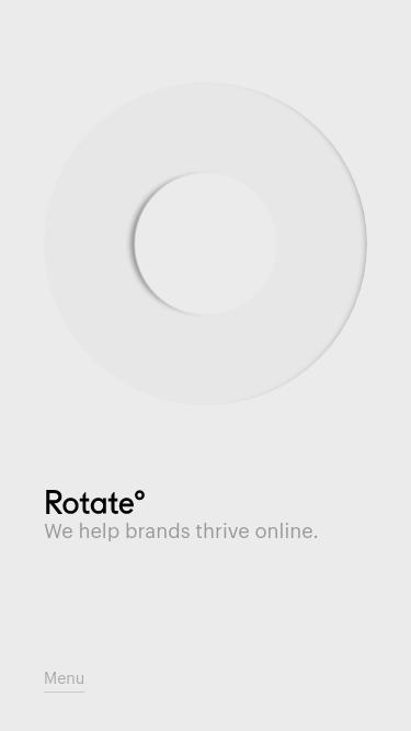 Studio Rotate mobile website