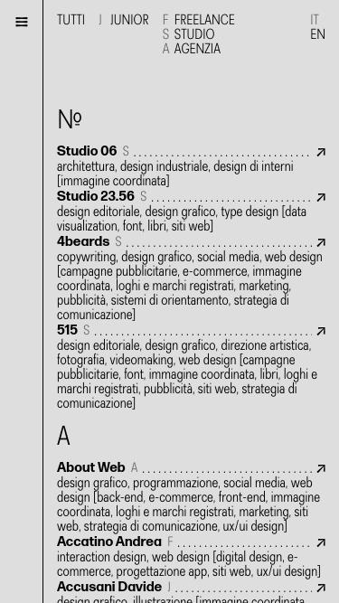torinodesign.info mobile website