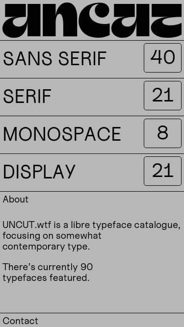 UNCUT mobile website