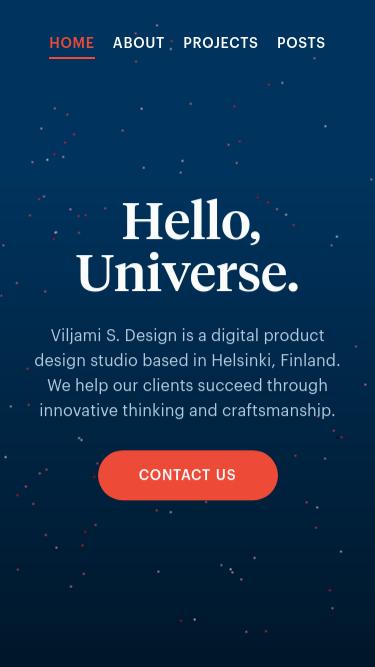 Viljami S. Design mobile website