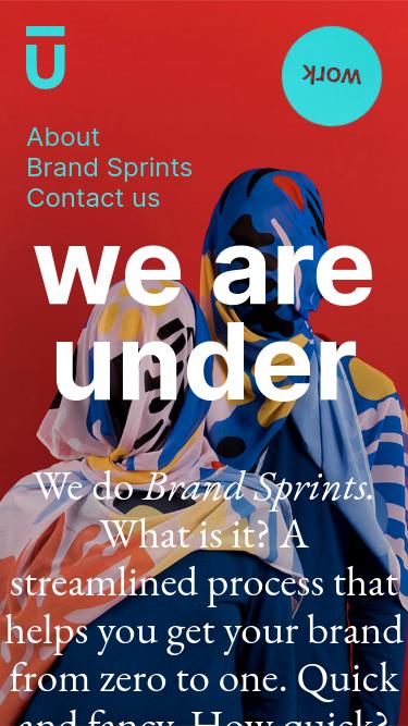 We are Under mobile website