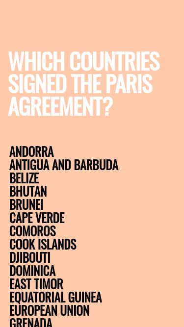 Paris Agreement mobile website