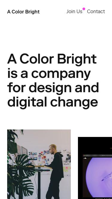 A Color Bright mobile website