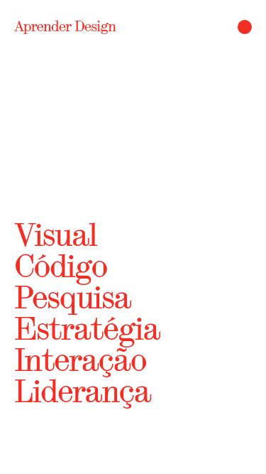 Aprender Design mobile website