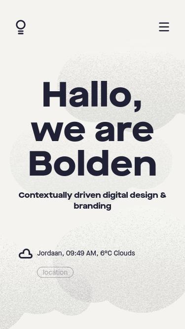 Bolden mobile website