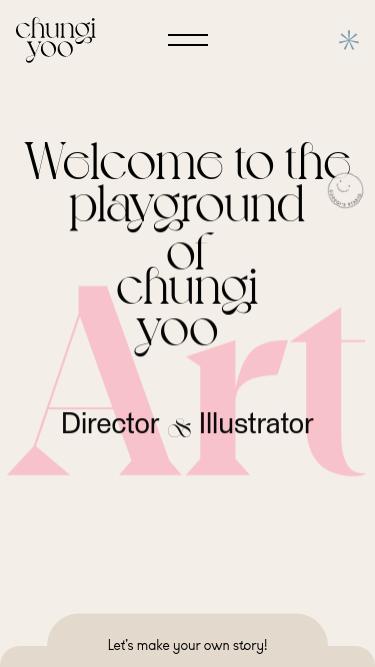 Chungi Yoo mobile website