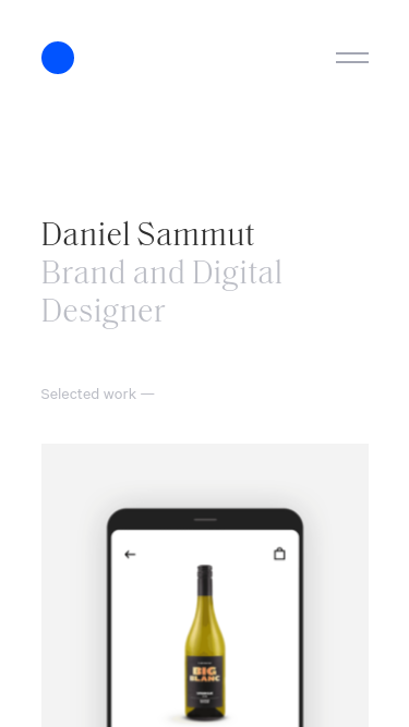 Daniel Sammut mobile website