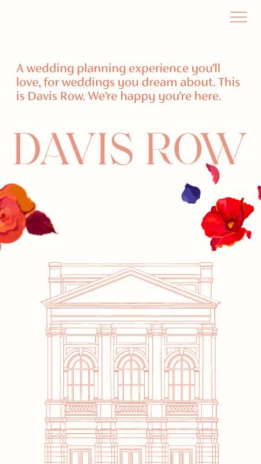 Davis Row mobile website