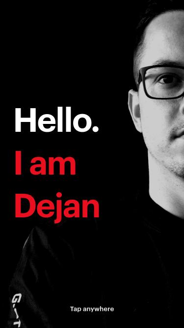 Dejan Markovic mobile website