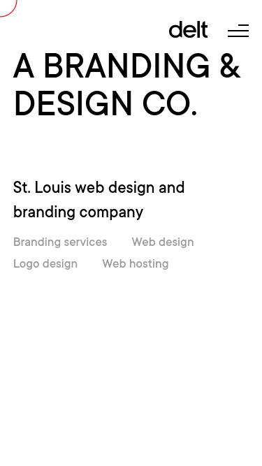 Delt mobile website