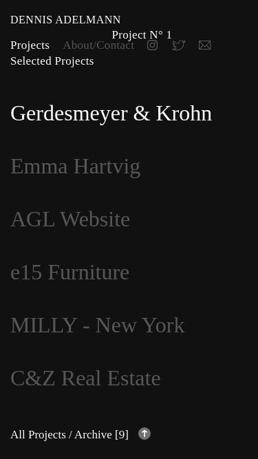 Dennis Adelmann mobile website