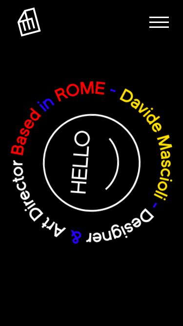 Davide Mascioli mobile website