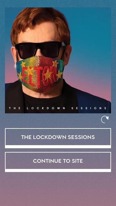 Elton John mobile website
