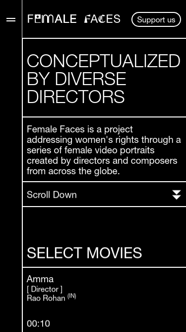 Female Faces mobile website