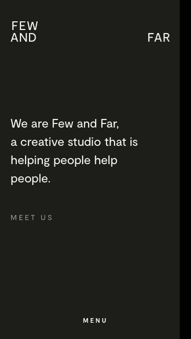 Few and Far mobile website