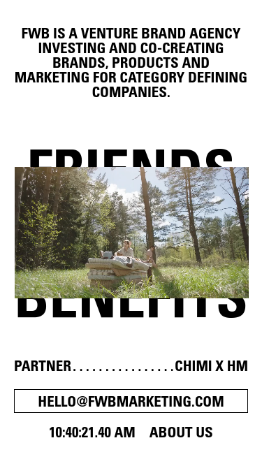 Friends with Benefits mobile website