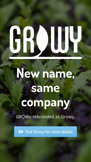 GROWx mobile website