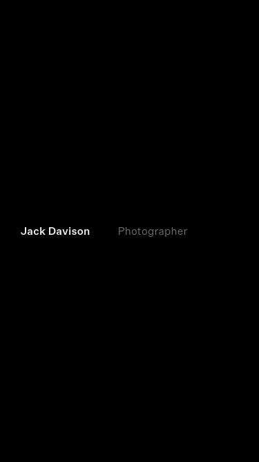 Jack Davison mobile website