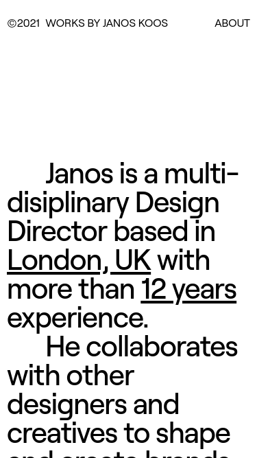 Janos Koos mobile website