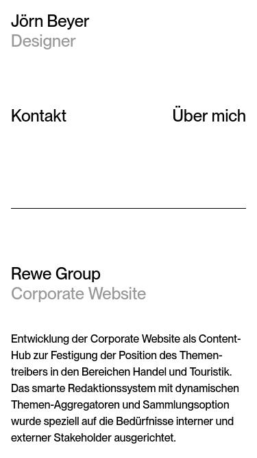 Jörn Beyer mobile website