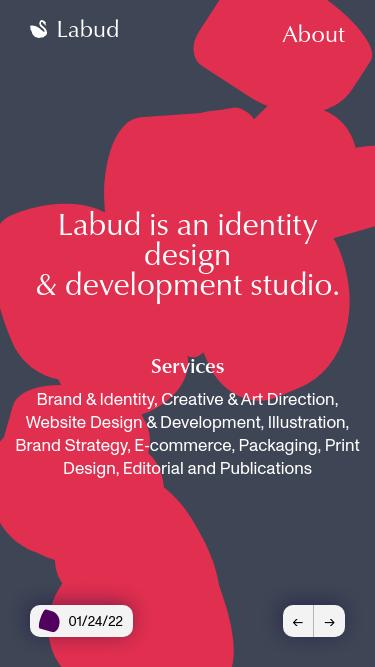 Labud mobile website