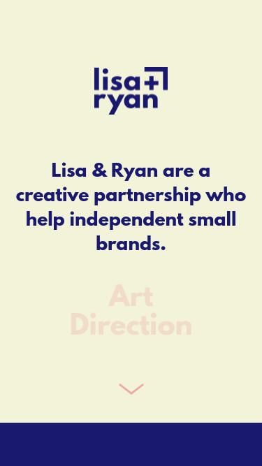 Lisa & Ryan mobile website