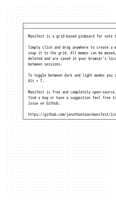 Manifest mobile website