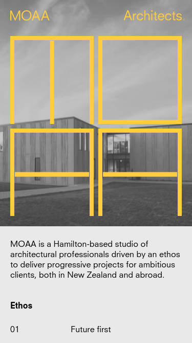MOAA Architects mobile website