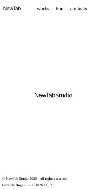 NewTab Studio mobile website