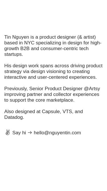 Tin Nguyen mobile website