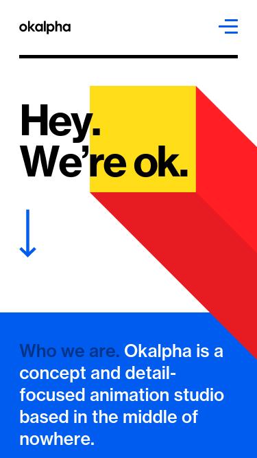 Okalpha mobile website