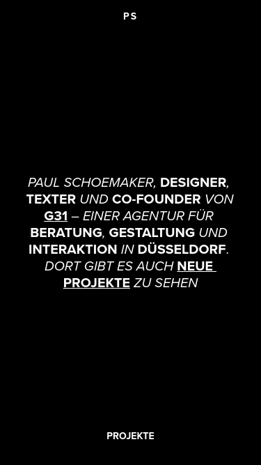 Paul Schoemaker mobile website