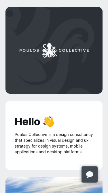 Poulos Collective mobile website