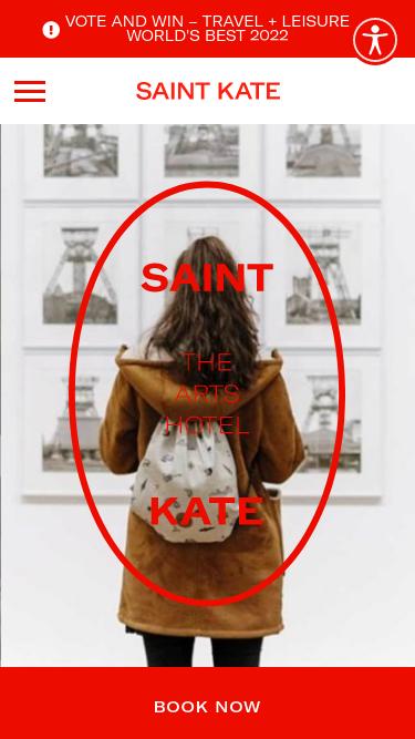Saint Kate mobile website
