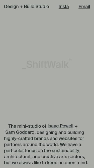 ShiftWalk™ mobile website