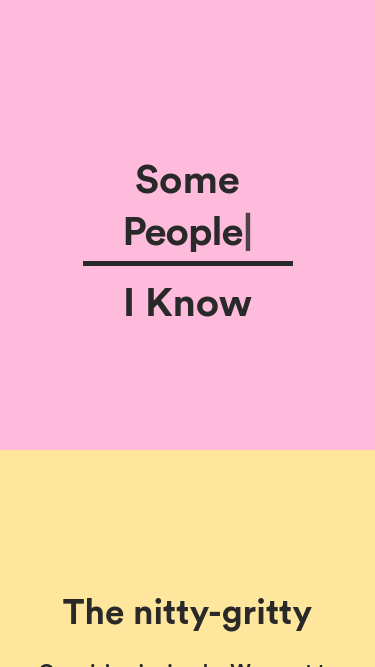Some People I Know mobile website