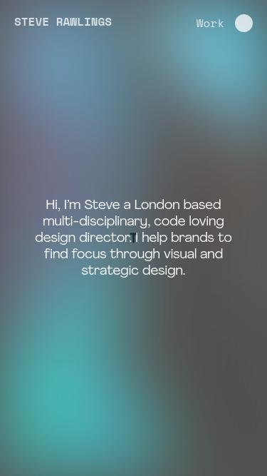 Steve Rawlings mobile website