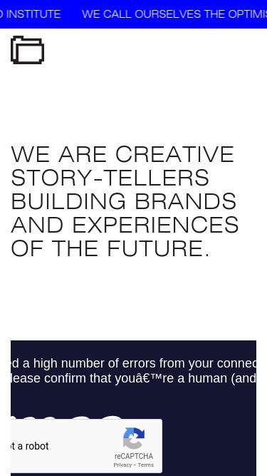 Institute mobile website