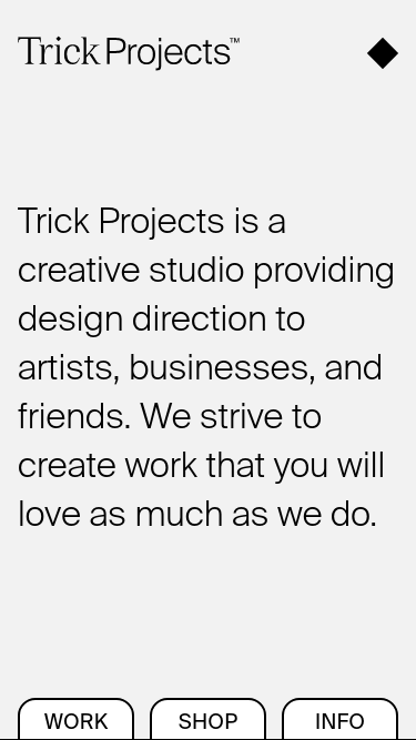 Trick Projects mobile website