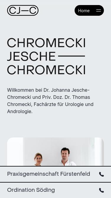 Chromecki Jesche-Chromecki mobile website