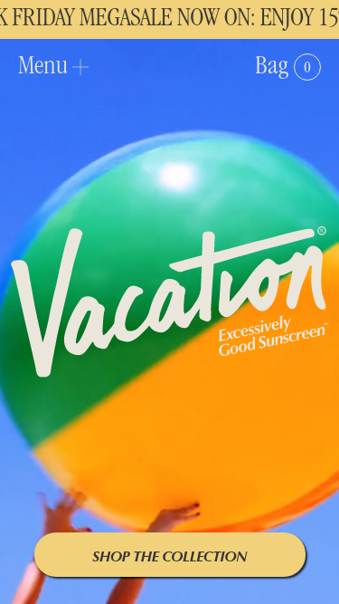 Vacation® mobile website