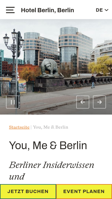You, Me & Berlin mobile website